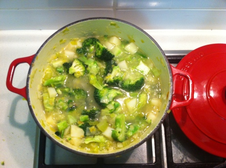 Broccoli Soup in the making