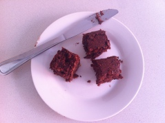 Adzuki bean brownie portions